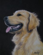 Noewi Prints - Golden Retriever Nr. 3 Print by Jindra Noewi