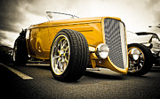 Ford Custom V8 Posters - Golden Rod Poster by Phil