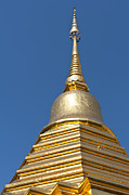 Indigenous Culture Prints - Golden roof of a temple in Thailand Print by Ulrich Schade