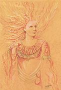Angel Art Paintings - Golden Seraph by Morgan Fitzsimons