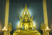Golden Sitting Buddha Print by Gloria and Richard Maschmeyer