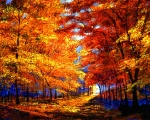 Fall Colors Paintings - Golden Sunlight by David Lloyd Glover