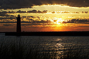 Light House Prints - Golden Sunset Print by Joe Gee