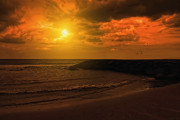 York Beach Metal Prints - Golden Sunset Metal Print by Tom York