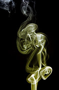 Incense Smoke Framed Prints - Golden Swirl  Framed Print by Alexander Butler