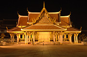 Bangkok Photos - Golden Temple Bangkok by Bob Christopher