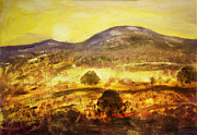 Sun Mixed Media Originals - Golden Time by John Hansen