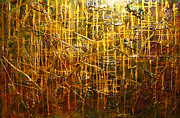 Impressionism Acrylic Prints Mixed Media - Golden Touch by Henry Parsinia