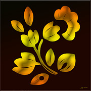 Tulip Tree Framed Prints - Golden Tulip Tree Framed Print by Heinz Mielke