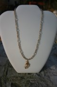 Gold Necklace Jewelry Originals - Golden Unicorn by Shawna Dockery