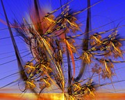 Abstract Expressionism - Golden Weed by David Lane