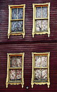 Sultanhmet Prints - Golden Windows Print by John Rizzuto