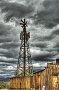Gold Mining Photos - Goldfield Ghost Town - Stormy Skies by Saija  Lehtonen