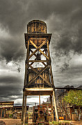 Gold Mining Photos - Goldfield Ghost Town - Water Tower  by Saija  Lehtonen