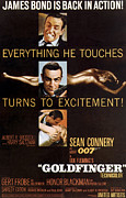 Mcdpap Framed Prints - Goldfinger, Top Sean Connery Middle Framed Print by Everett