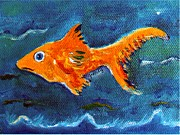Gretzky Paintings - Goldfish by Paintings by Gretzky