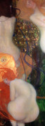 Jugendstil Prints - Goldfish Print by Gustav Klimt