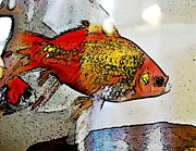 Goldfish Digital Art Prints - Goldfish Print by Sarah Loft