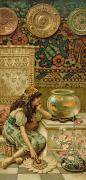 Orientalists Painting Framed Prints - Goldfish Framed Print by William Stephen Coleman