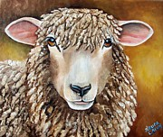 Lamb Framed Prints - Goldie Framed Print by Laura Carey
