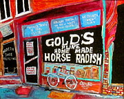 Store Window Display Paintings - Golds Horseradish by Michael Litvack