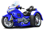 Goldwing Digital Art - Goldwing Blue Trike by Maddmax