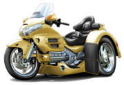 Honda Framed Prints - Goldwing Gold Trike Framed Print by Maddmax