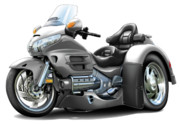 Goldwing Digital Art - Goldwing Grey Trike by Maddmax