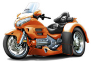 Goldwing Digital Art - Goldwing Orange Trike by Maddmax