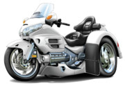 Goldwing Digital Art - Goldwing White Trike by Maddmax