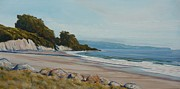 Santa Barbara Paintings - Goleta Beach February 74 degrees by Jeffrey Campbell