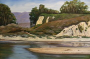 Santa Barbara Paintings - Goleta BeachThe Gap by Jeffrey Campbell