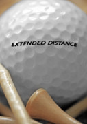 Pasttime Prints - Golf Ball 2 - Extended Distance Print by Steve Ohlsen