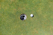 Y120831 Art - Golf Ball Next To The Hole by Tuan Tran