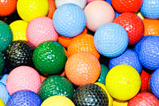 Golf Green Prints - Golf balls Print by Tom Gowanlock