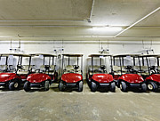 Golf Cart Parking Garage Print by Skip Nall