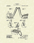 Golf Drawings Posters - Golf Club 1914 Patent Art Poster by Prior Art Design