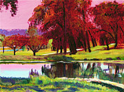 David Lloyd Glover - Golf Course Dawn plein air