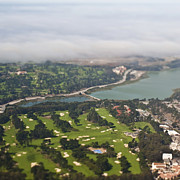 Tilt Shift Framed Prints - Golf Course Framed Print by Eddy Joaquim