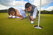 Cheers Posters - Golf Course Wedding Poster by Andre Babiak