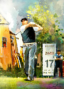 Golf In Club Fontana Austria 01 Dyptic Part 01 Print by Miki De Goodaboom