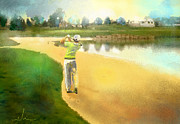 Sports Mixed Media - Golf in Club Fontana Austria 02 by Miki De Goodaboom