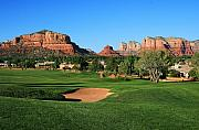 Sedona Framed Prints - Golf in Paradise Framed Print by Gary Kaylor