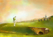 Sports Mixed Media - Golf in Scotland Saint Andrews 02 by Miki De Goodaboom