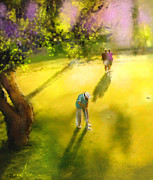 Sports Art Mixed Media - Golf in Spain Castello Masters  01 by Miki De Goodaboom