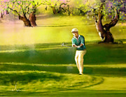 Sports Art Mixed Media - Golf in Spain Castello Masters  02 by Miki De Goodaboom