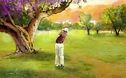 Sports Art Mixed Media - Golf in Spain Castello Masters  04 by Miki De Goodaboom