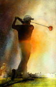 Sports Art Mixed Media - Golf in The Portugal Masters 01  by Miki De Goodaboom