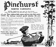 Golf Club Framed Prints - Golf: Pinehurst, 1916 Framed Print by Granger