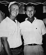 Nicklaus Posters - Golf Pro Jack Nicklaus, Arnold Palmer Poster by Everett